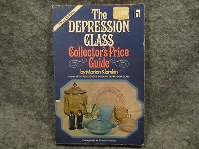 The Depression Glass Collectors Price Guide Marian Klamkin 1974 Vintage PB Book