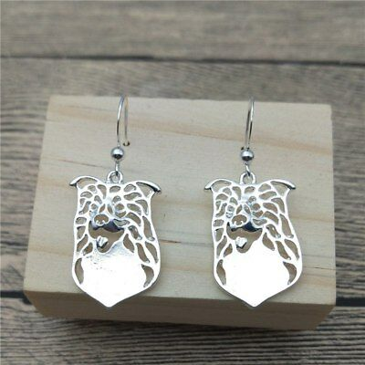 Border Collie Dog Earrings Silver ANIMAL RESCUE DONATION
