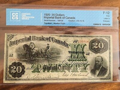 1920 20 Dollars Imperial Bank Of Canada