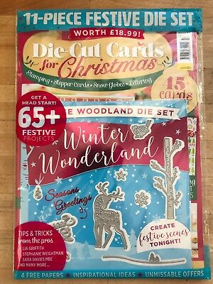 MAKE IT TODAY, Sept 2018, DIE-CUT CARDS FOR XMAS ISSUE 37