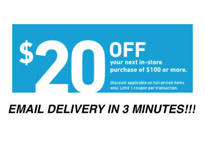 Three (3X) $20 Off $100 Lowes Instant Delivery-3Coupons Instore/online 12/27/18