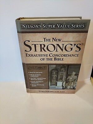 New Strong's Exhaustive Concordance by James Strong (2003, Hardcover)