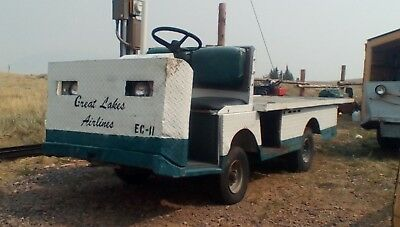 Taylor Dunn 36v Electric Flatbed Utility Cart Airport Tug Burden Carrier 4x8 Bed