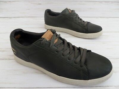 size 40 26559 a6814 PUMA CLYDE X UNDEFEATED 5 Dark Green Leather Athletic Shoes Men's 11