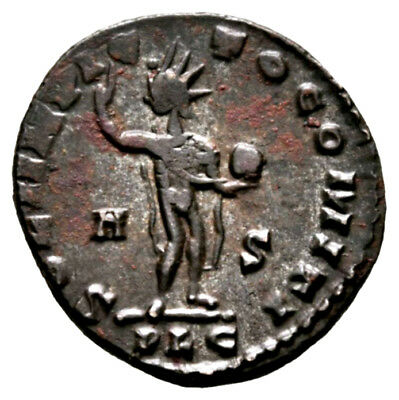 CONSTANTINE THE GREAT (316 AD) Unpublished Follis, Sol Lyons #MA 351