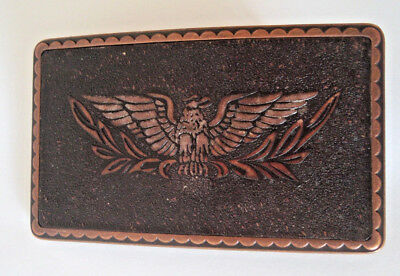 Vintage mens belt buckle eagle copper metal Harley Davidson?