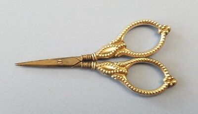 Rare Antique Germany Made Sewing Scissors Sterling Silver Original Parts Vintage