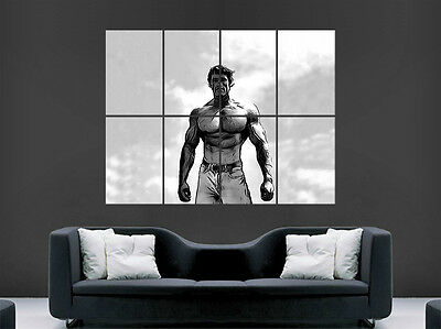 Arnold Schwarzenegger Abstract Poster Gym Conquer Bodybuilding Art Large