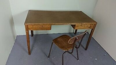 Retro Teacher Desk & Chair