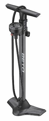 Beto CMP-161SGB Steel Floor Pump with Gauge & Bleed Valve Presta Schrader