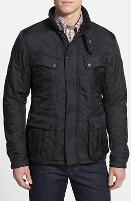 Barbour International Ariel Quilted Polarquilt Coat Mens Black Jacket Size Large