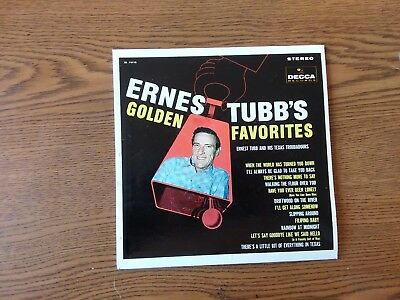 1950S EXC 33&EXC.Sleeve ERNEST TUBBS GOLDEN FAVORITES 7-34044 SONGS on COVER