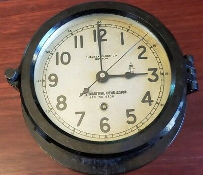 WWII US Maritime Commission Chelsea Ships Clock serial 326902 @ Dec 1942