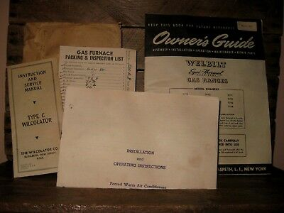 1951 Welbilt Gas Range Stove Owners Guide + More