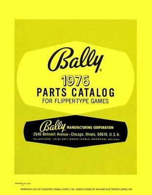 1976 Bally Pinball Machine Parts Catalog Service/Repair Flipper Game Manual PPS