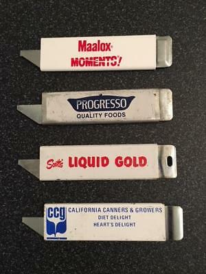 Vintage Advertising Box Cutters - 4 different cutters