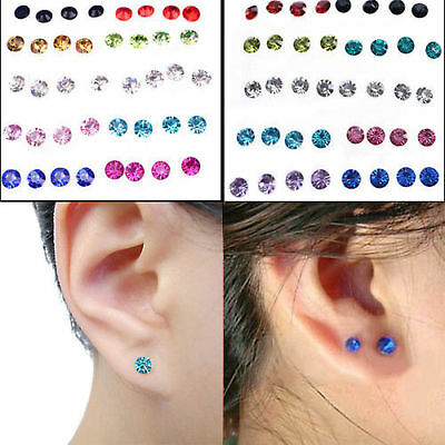 20 Pairs Wholesale Bulks Lots Crystal Earring Stud 1 Box Women Fashion Jewelry
