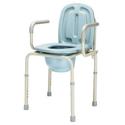 Medical Heavy-Duty Drive Deluxe Bariatric Drop-Arm Commode Bedside Toilet Chair