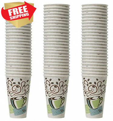 Dixie Perfectouch Insulated Paper Hot Cup, Coffee Haze Design, 75 Count 16oz