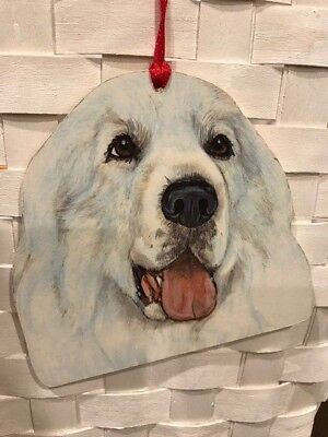 Great Pyrenees Wooden Ornament