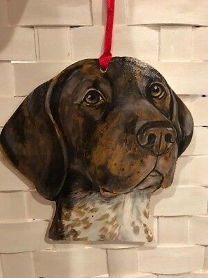 German Shorthaired Pointer Wooden Ornament