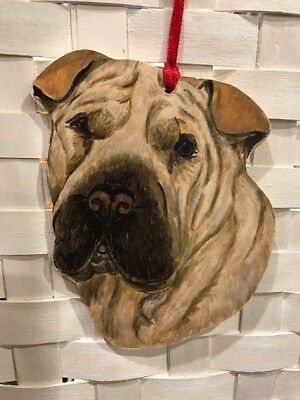 Shar Pei Wooden Ornament