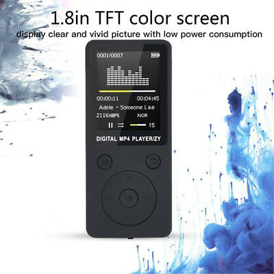 "Portable 32GB MP3/MP4 Player 1.8""LCD Screen FM Radio Video Games Movie AU"