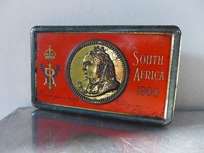 Fry Chocolate Boer Wars Queen Victoria SOUTH AFRICA Corps 1900 candy tin