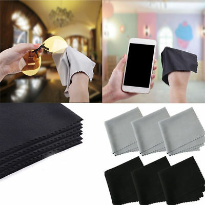 10 x Premium Microfiber Cleaning Cloths for Lens Glasses Screen Multifunction