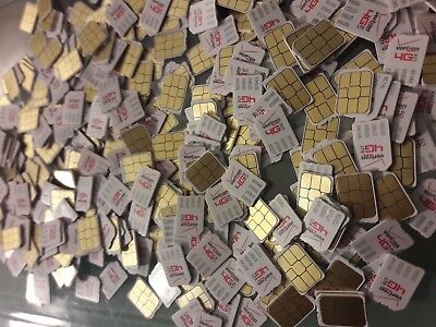 LOT OF 50) New Verizon Nano Sim Card ,never Activated, Ready