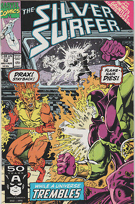 The Silver Surfer #52 Marvel 1991 An Infinity Gauntlet Crossover VF