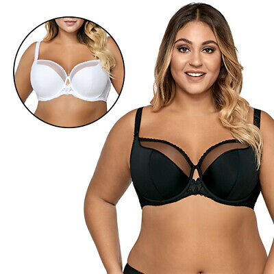 Ava 995 underwired semi padded full cup smooth lace bra for big busts maxi size