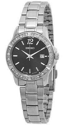 Seiko Women's Analog Quartz Crystal Accents Stainless Steel Watch SUR719
