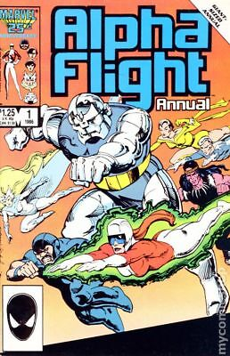 Alpha Flight Annual #1 1986 FN Stock Image