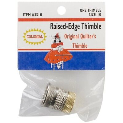 Colonial Needle Raised Edge Thimble, Size 10 - Raised Thimble