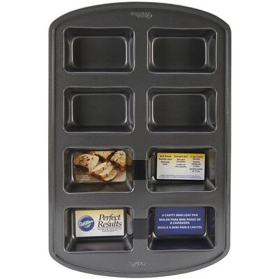 Wilton 2105-3972 Perfect Results 8-cavity Loaf Pan, Mini - Pan 21053972 Cavity