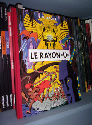 "Rayon ""U"" - Version Toilé 1991 - Par Edgar P.Jacobs - BD Aventure"