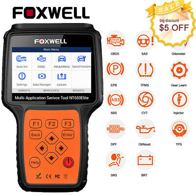 Automotive OBDII Diagnostic Scanner TPMS EPB BMS DPF ABS Airbag Reset Scan Tool