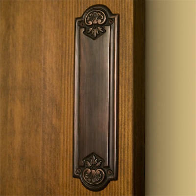 Signature Hardware Colonial Brass Push Plate in Oil Rubbed Bronze