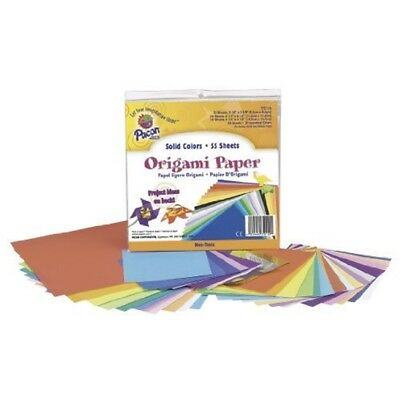 Pacon 55-piece 15cm Japanese Origami Paper Sizes Upto 150 Mm, Assorted Colours