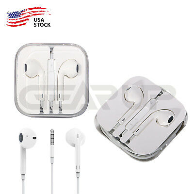 Headset Earphone 3.5mm Earbud Fit For Mic Apple iPhone 5 iPhone 6/6s iPod