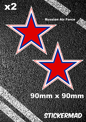 Russian Air Force Roundels Stickers MIG SU-57 / SU-35s Fighter Jet USSR MOSCOW