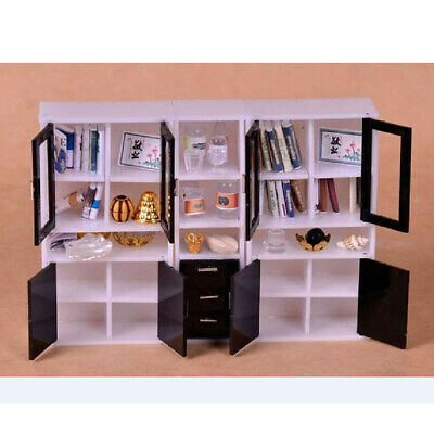 1/12 Dolls House Miniature Furniture Display Cabinet Bookshelf Rooms Decor
