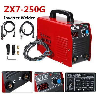 Portable ARC 250Amp Stick Welder DC Inverter MMA ZX7-250G Welding Machine IGBT