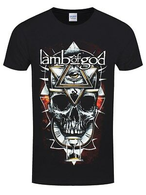 Lamb of God All Seeing Red Men's Black T-shirt