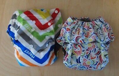 4x pull up cloth nappies / MCNs Large nappies