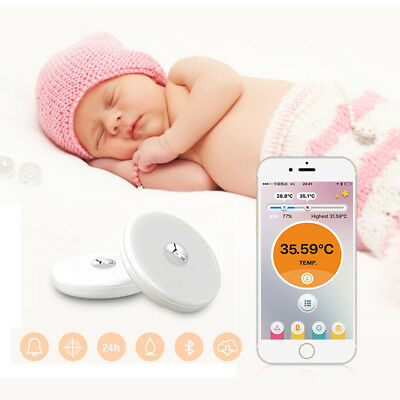 Baby Thermometer Monitor Intelligent Wearable Safe Thermometer BT Smart AU