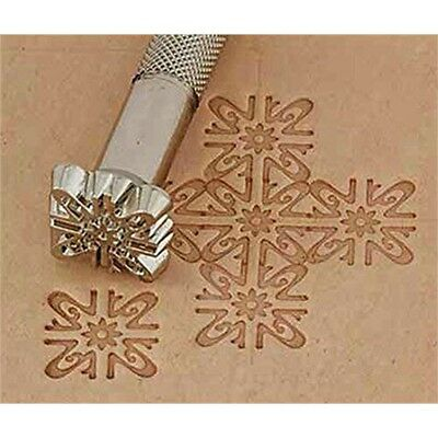 140 Leathercraft Tool - Craf Leatherclay Embossing Stamp K Floral Background