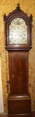 Oak Cabinet 1850's  8 x day Grandfather Clock -by Culey of Tetford