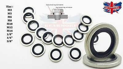 Dowty Seals O-Rings Bonded Seals Self Centering Hydraulic Pneumatic washer